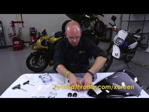 MRA X-Creen Tour Motorcycle Windshield Extension Clamp-On Installation Walk Through