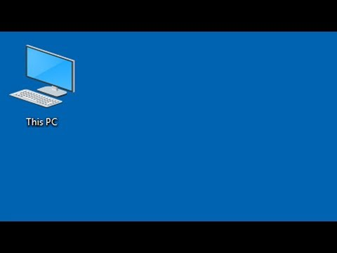 How to add This PC (My Computer) icon to desktop on Windows 10 - Tutorial