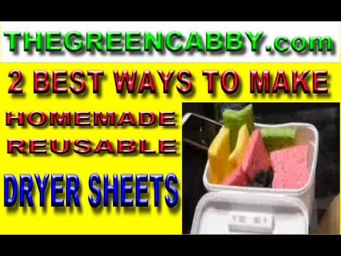 2 BEST WAYS TO MAKE REUSABLE DRYER SHEETS - HOMEMADE RECIPE TUTORIAL
