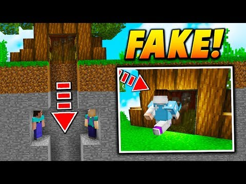 FAKE TREE PAINTING TRAP! - Minecraft SKYWARS TROLLING (SECRET TRAP!)
