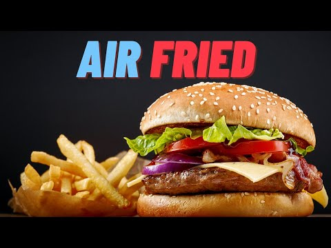 ▶️Burgers Cook In Air Fryer, Loaded Burger Filled with Cheese ( Simple Recipe for Amazing Burgers)