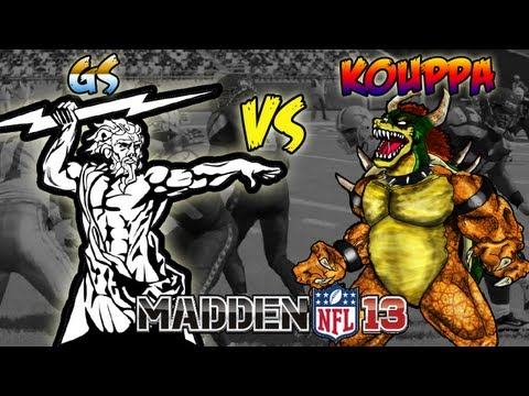 Madden 13 - MrGoldenSports Aka GS Vs Kouppa (318super) Madden 13 Game Of The Year! Super Match Up