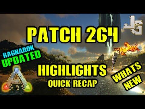 ARK - Patch 264 - Highlights - Recap - Ragnarok Update - Underwater Fog GONE! Torch fire dmg dinos