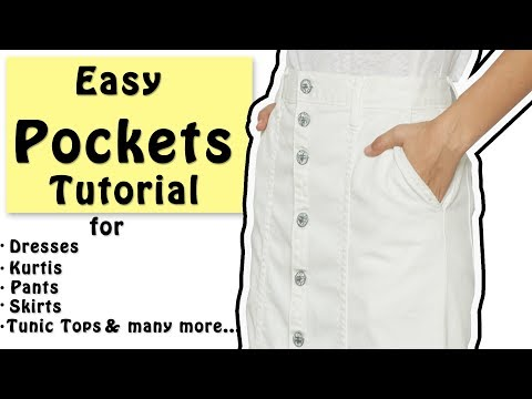 DIY Easy Pockets Tutorial | Slash Pocket Cutting & Stitching