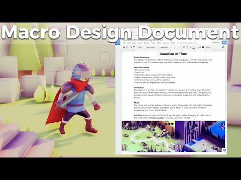 Game Jam Macro Design Document Guide And Template [Indie Game Development]