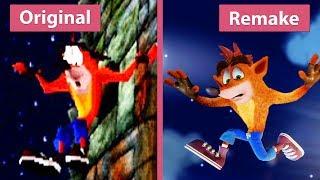 Crash Bandicoot – Original (1996) vs. N. Sane Trilogy  (2017) Remake PS4 Pro Graphics Comparison