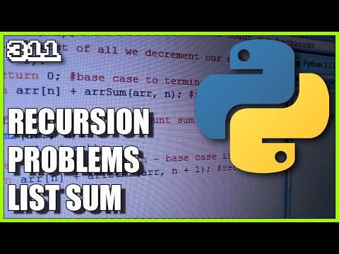 Programming in Python - List sum using recursion