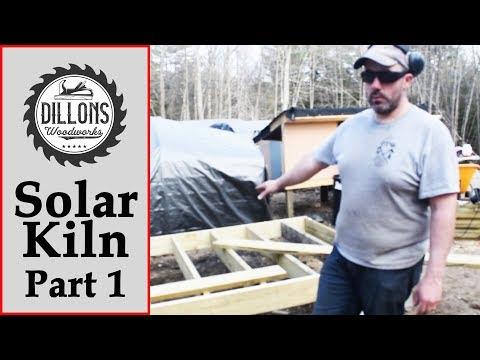 Solar Kiln Build Part 1 - Framing The Floor