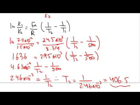 13.4 Activation Energy and Temperature Dependence fo Rate Constant 2