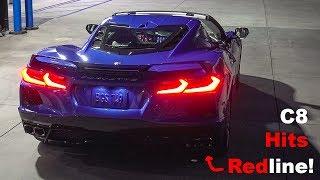 Watch This C8 Corvette REV TO REDLINE!!