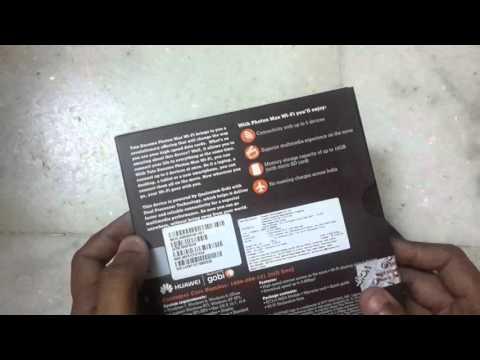 Tata Photon Max Wi Fi Data Card Unboxing