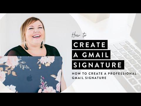 Create a Professional Gmail Signature