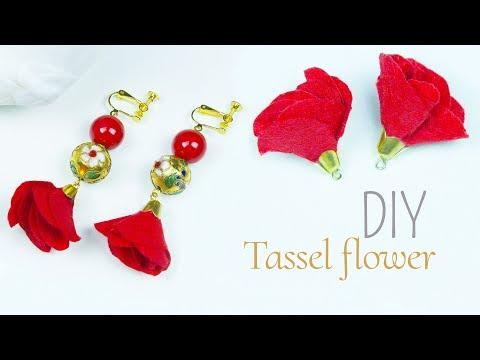 How to make tassel flower at home | DIY Flower tassel earrings | Beads art