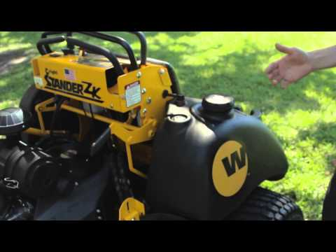 Wright Stander ZK: Mower Overview