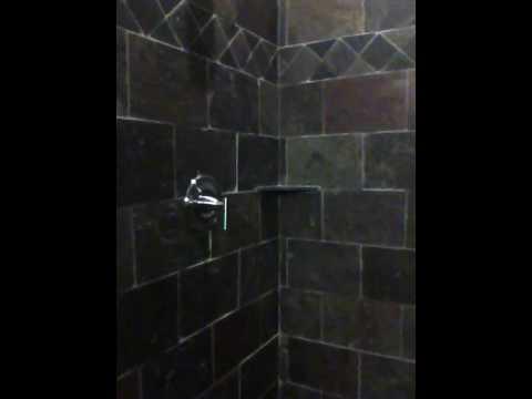 Imagistone Shower in Slate Tile
