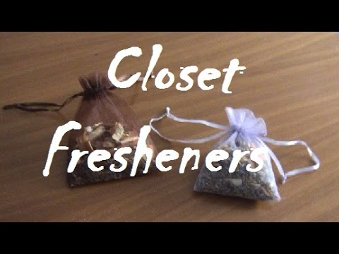 DIY- Aromatic fresheners for closet and drawers