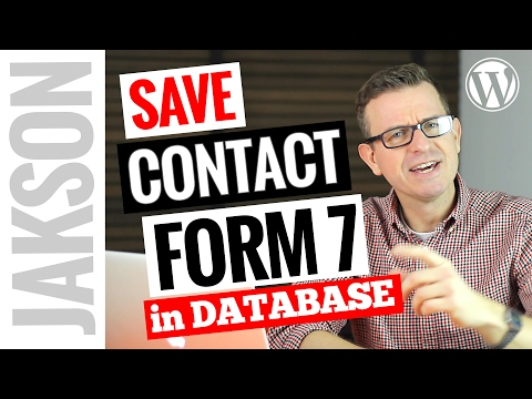 Save Contact Form 7 To Database - WordPress Tutorial 2017