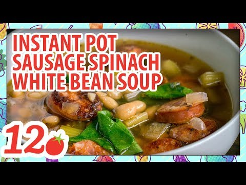 How to Make: Instant Pot Sausage Spinach White Bean Soup