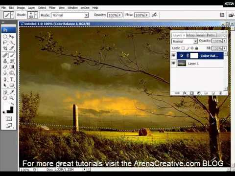 Color Balance Adjustment Layers in Adobe Photoshop Tutorial