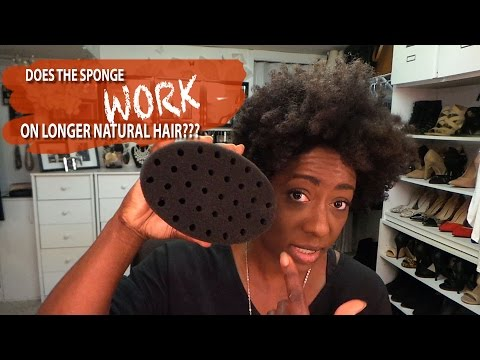 Natural Hair| The Sponge Method on Longer Natural Hair DOES IT WORK?|BEAUTYCUTRIGHT