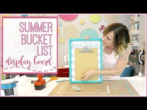 Summer Bucket List Display
