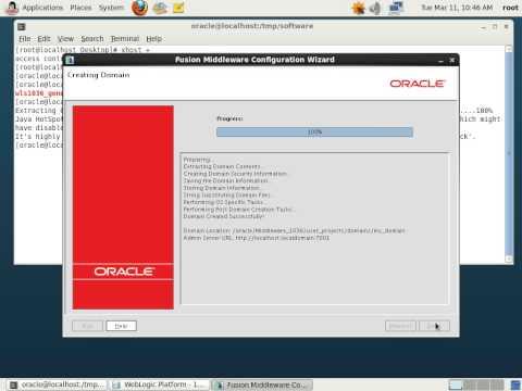 Install and set up a domain Weblogic Server 10.3.6. Oracle Weblogic Server 11g R1.
