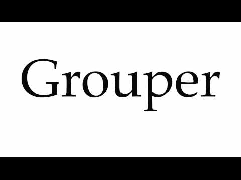 How to Pronounce Grouper