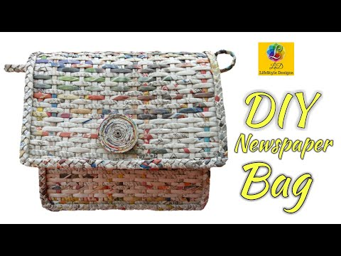 How To Make A Ladies Purse/Bag with Newspaper and Fevicol (Unique 2)