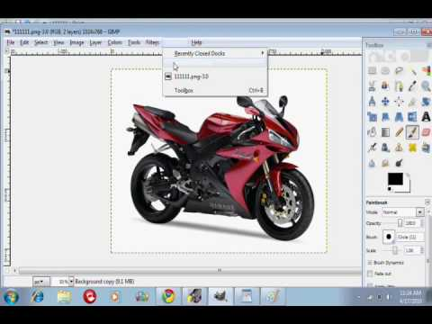 How to change the color of a car/motorcycle on gimp