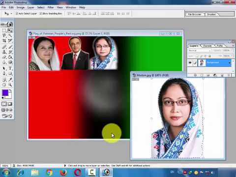 How to make election banner in urdu hindi tutorial