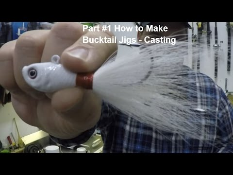 How To Make Your Own Bucktail Jigs Start to Finish Part 1 of 3 - Pouring