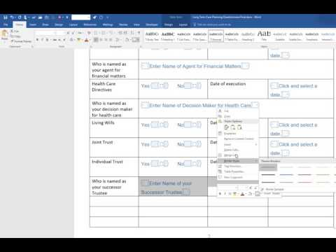How to Build the Fillable Form in Microsoft Word