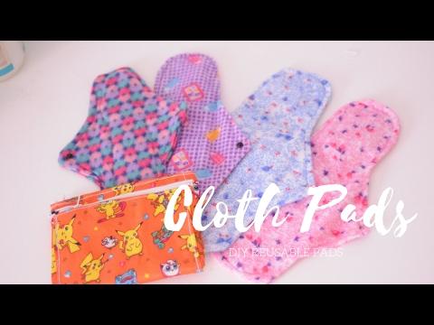 DIY Reusable cloth pads & wet bag