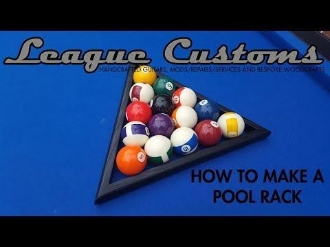 DIY How to Make a Pool Ball Triangle/Rack