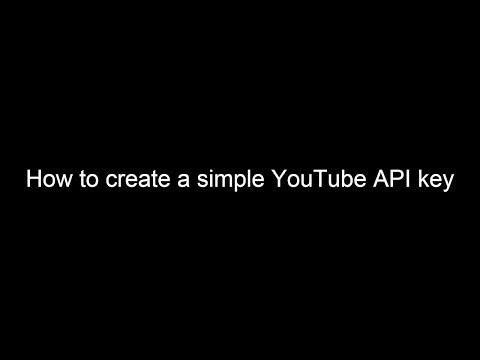 How to create a YouTube API Key  2018