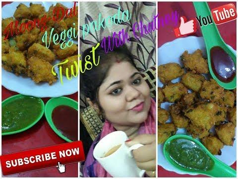 Moong Dal pakoda - Moong Dal pakora Recipe - Indian food moong dal bhajiya vada in Hindi