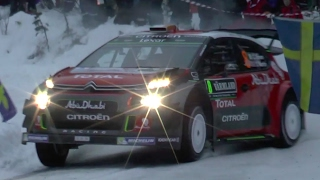 Rally Sweden 2017 - Crash, offs & moments. Day 1 highlights.