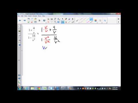 sec9 5 Part 2 alg 2 adding and subtracting complex fractions