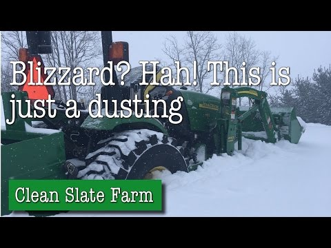Blizzard? Hah! The Tractor got stuck though