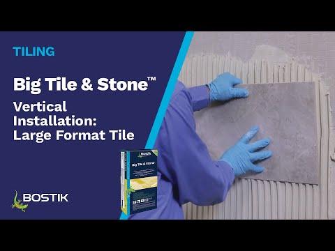 Vertical Installation: Large Format Tile