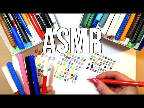 ASMR Sorting Markers No Talking
