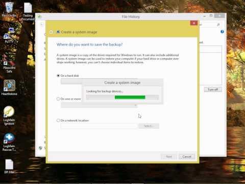 System Image Backup - Windows 8.1