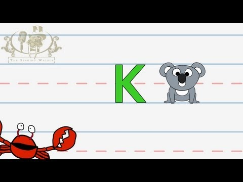 Write the letter K | Alphabet Writing lesson for children | The Singing Walrus