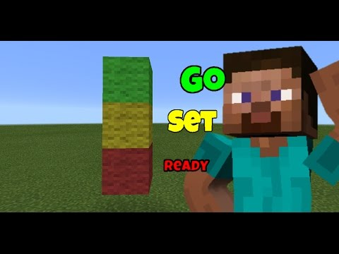 How to make a: Race Signal/Traffic Light | Minecraft Pocket Edition