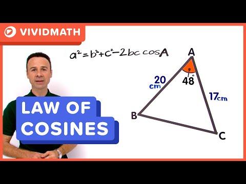Cosine Rule Finding A Side - VividMaths.com