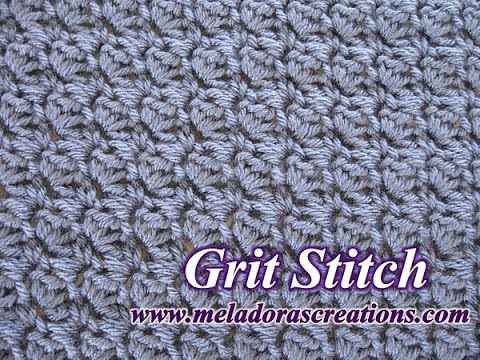 The Grit Stitch - Crochet Tutorial