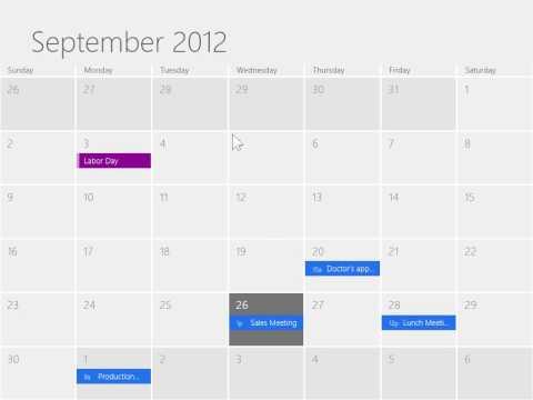 Windows 8   Desktop Version Access the Calendar App