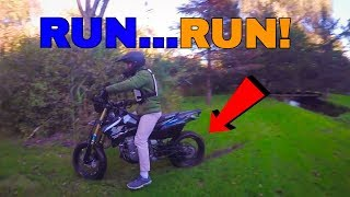 WE RIPPED UP THEIR GRASS - TTR 90 + CRF 70 Motovlog