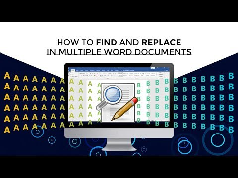 How to find and replace in multiple word documents?