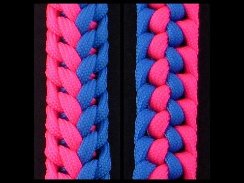 How to Make the Two-Color Stitched Flight Sinnet (Paracord) Bracelet by TIAT
